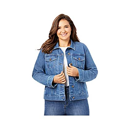 Woman Within Women's Plus Size Stretch Denim Jacket at Women's Clothing store