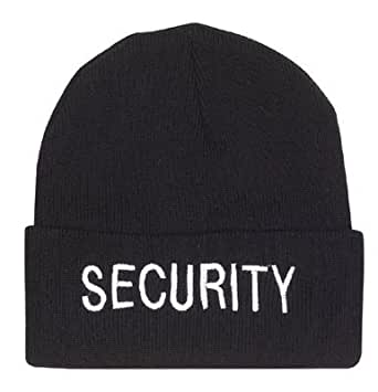 Black Public Safety SECURITY Watch Cap w/White Lettering