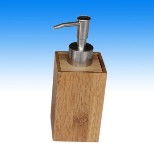 Bambus Seifenspender 240 ml Seifen Spender Dosierer Dispenser Bad Accessoire Deko fürs Bad