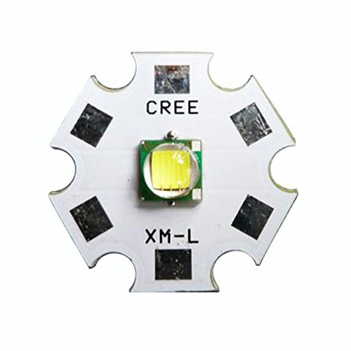 Generic Cree 10W XM-L T6 White 6500K LED Lamp light Emitter Chip DIY With 20mm Star PCB Base (Cree 10W XM-L T6)
