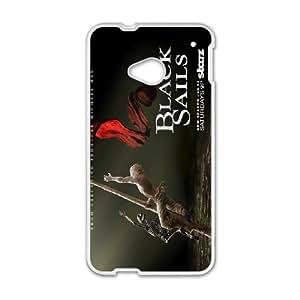 HTC One M7 Phone Case Black sail SA5943