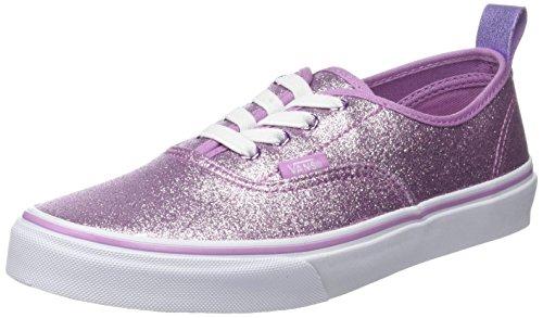 Vans Authentic Elastic Lace, Zapatillas Unisex Niños Morado (Glitter + Metallic/ Lilac)