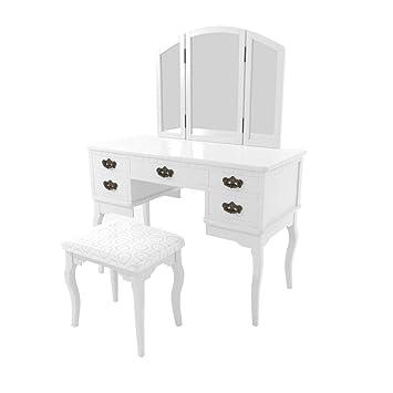 Amazon.com: Benzara Vanity - Mesa con varios cajones y ...