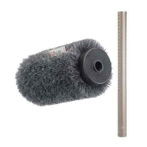 Broadcast Grade Shotgun Microphone (Rode NTG-3 Precision Broadcast Grade Cardioid Mic w/Rycote Softie Long Hair Wind)