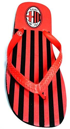 PVC Rojo Hombre Sandalias Negro Fonseca De de para Rojo 42 qptxga