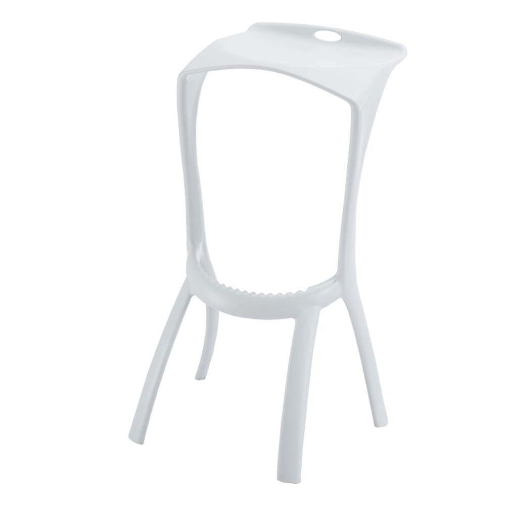 White ZHAOYONGLI Stools Footstool Step Stools Plastic Bar Chair Simple High Chair Front Desk Bar Stool Personality Fashion Creative Solid Durable Long Lasting (color   White)