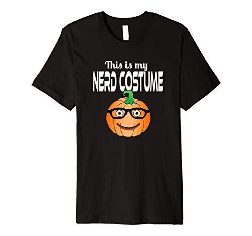 (This is My Nerd Costume Funny Halloween Pumpkin T)