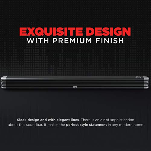 boAt AAVANTE Bar 1800 120W 2.1 Channel Bluetooth Soundbar with boAt Signature Sound, Wireless Subwoofer, Multiple Connectivity Modes, Entertainment Modes, Bluetooth V5.0(Premium Black)