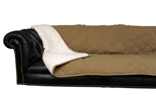 CPC Diamond Quilted Microfiber Sherpa Pet Throw, 54 by 80-Inch, Sage by Cpc