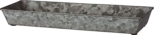Primitives by Kathy 39710 Galvanized Rectangular Trays, Set of Two, Rustic Tin ()