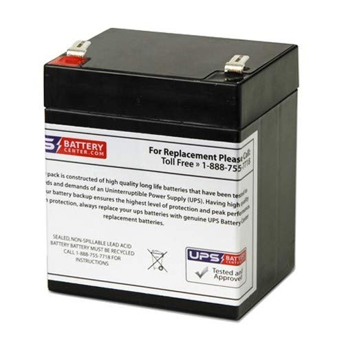 UPSBatteryCenter 12V 5Ah F2 - Plus Power PP12-5 Compatible Replacement ()