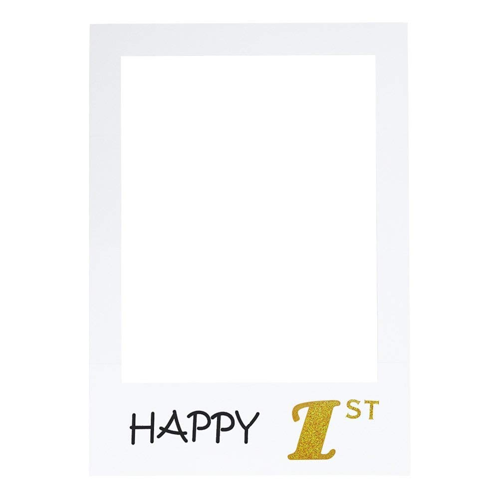 Joyeux Anniversaire Anniversaire photobooth Props Cadre Selfie pour 1st/16/18/21/30/40/50/60Ans fête d'anniversaire Photo Props Ideapark
