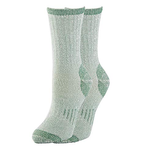 - 1 2 3 4 Pairs Thermal 70% Merino Wool Socks Thermal Hiking Crew Winter Women's (1 Pair Green)
