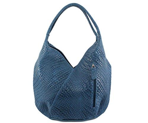 asas Cuero 18 mujer Hauteur Azul 29 cm BLEU de Longueur de PETROL cm Profondeur Pétrol MELANY 28 Bolso CHLOLY Bleu para cm Xx0AqA