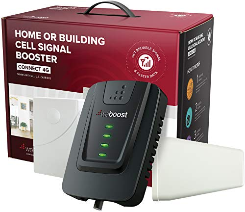weBoost Connect 4G 470103 Indoor Cell Phone Signal Booster for Home and Office - Verizon, AT&T, T-Mobile, Sprint -  Supports 5,000 Square Foot (Best Cellular Phones)