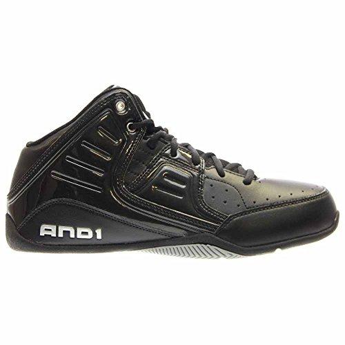 d4dc9b2e906d8 AND 1 Men's Rocket 4.0 Basketball Shoe, Black/Black-Silver, 11.5 M ...
