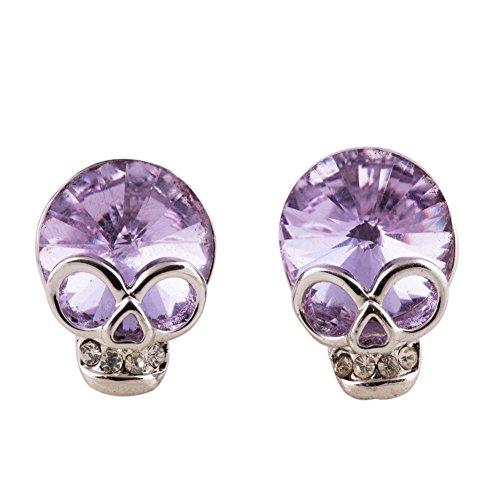 EVBEA Cute Skull Studs Womens Gothic Cool Skeleton Jewelry Candy Baby Earrings for (Jewelry Skeleton)