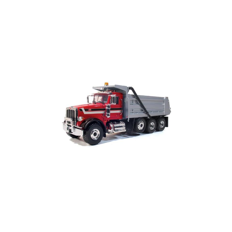 First Gear 1/34 Red Beterbilt 367 with Silver Dump Truck Diecast Model Truck ~ 103886