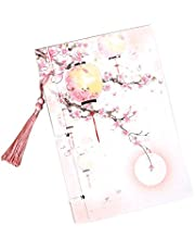 Vintage Chinese Style Notepad Stationery Notebook Journals Diary with Tassel, 16