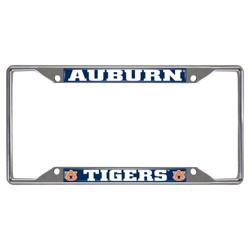 FANMATS NCAA Auburn University Tigers Chrome License Plate Frame by Fanmats
