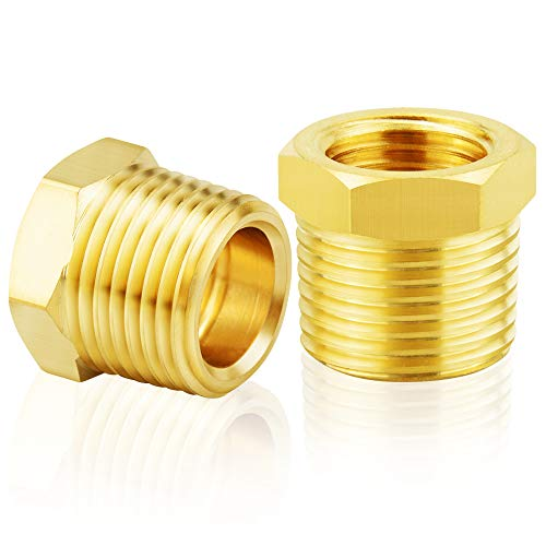 Tailonz Pneumatic Brass Threaded Pipe Fitting 1 Inch NPT Male x 3//4 Inch NPT Female Hex Bushing Adapter (5Pcs)
