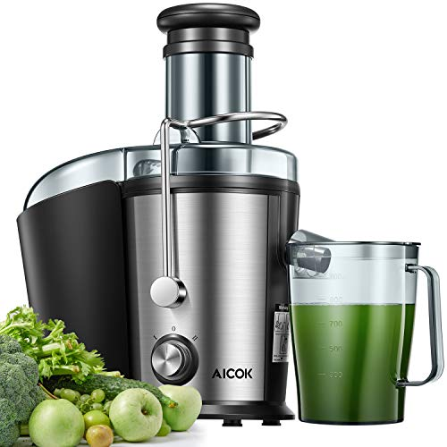 Juicer Machine, Aicok Easy Clean Juice Extractor, 800W Centrifugal Juicer with 3
