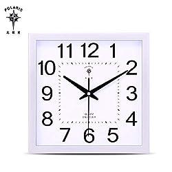 Wall Clock,Large Wall Clocks,Wall Clock Large,Large Wall Clock,Wall Clocks Large.12-inch Square Luminous Wall Clock Living Room Office Mute Clock Hanging Table Simple Creative Quartz Clock