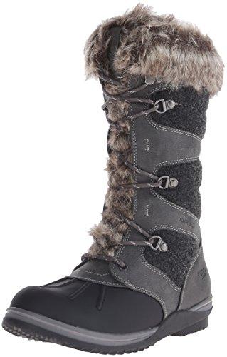 Blondo Grey Snow Leather Waterproof Blondo Womens Womens Dark Boot Sasha 8wH5BTSq
