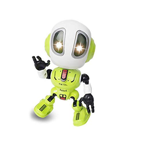 Orland Kids Voice Recording and Voice Changer Intelligent Robot,360 Rotating with Lights & Music,Best Early Educational Development Gift, Christmas Year and Birthday Gift (Green)