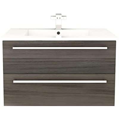 Cutler Kitchen & Bath FV ZAMBUKKA30 Silhouette 30 in. Wall Hung Bathroom Vanity, 30 inches, White - Includes cabinet Choose from available finishes Made from wood - bathroom-vanities, bathroom-fixtures-hardware, bathroom - 41EANmSziJL. SS400  -