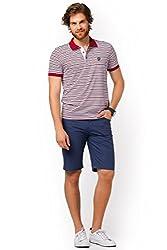 DeFacto Men's Striped Polo T-Shirt 3XL Red-310-08