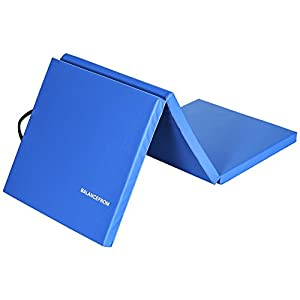 BalanceFrom 2″ Thick Tri-Fold Folding Exercise Mat with Carrying Handles for MMA, Gymnastics and Home Gym Protective Flooring