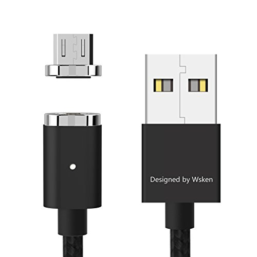 Wsken Mini2 Micro USB Cable Magnetic LED Display USB Sync and Fast Charger Cable for Android (Black)
