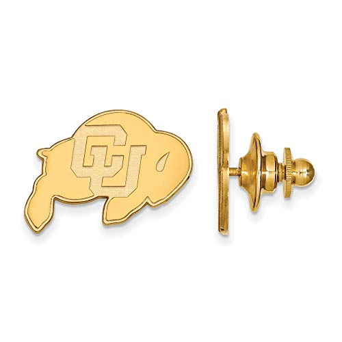 Roy Rose Jewelry Sterling Silver with 14K Yellow Gold-Plated LogoArt University of Colorado Lapel Pin (Colorado Lapel Pin)