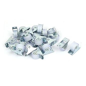 eDealMax Muebles carretilla Rack 1 pulgada Dia Metal Placa Superior silenciosa PVC fijo 24pcs Caster ruedas