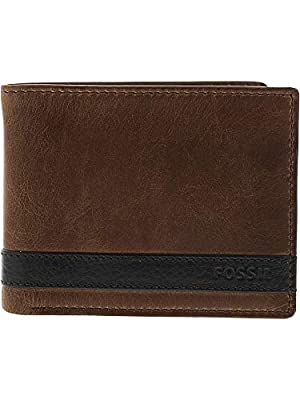Fossil Men's Leather Passcase Wallet