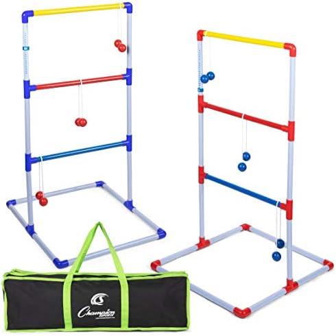 Sports Ladder Ball Toss Game Set Indoor Outdoor Patio Backyard Lawn w// 8 Balls