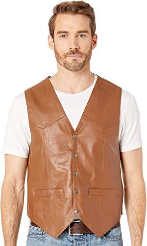 (Scully Men's Leather Vest Tan X-Large)