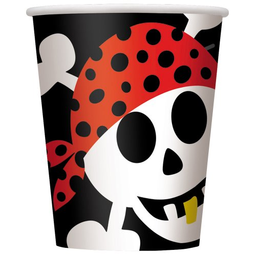 9oz Pirate Party Cups, 8ct -