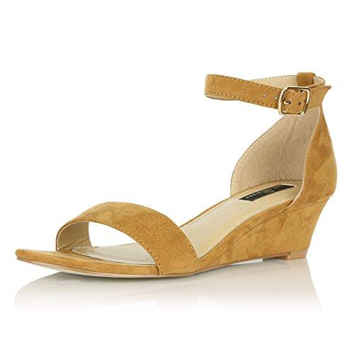 Dailyshoes Kvinners Sommer Fashion Design Ankelen Stropp Spenne Lave Kile  Plattform Hæl Sandaler Sko Lav Kile