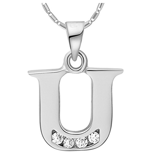Stainless Steel Love U Pendant Necklace (Gold Plated) - 6