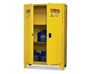 Eagle Tower Safety Cabinet For Flammable Liquids, 2 Manual Doors, 4u0026quot;  Legs,