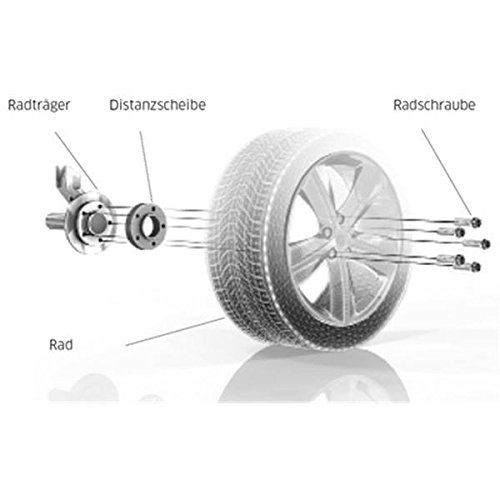 TuningHeads//H/&R .0507979.DK.B75725-10-15-OS ABE Spurverbreiterung Blackline Radschrauben VA 20 mm//HA 30 mm