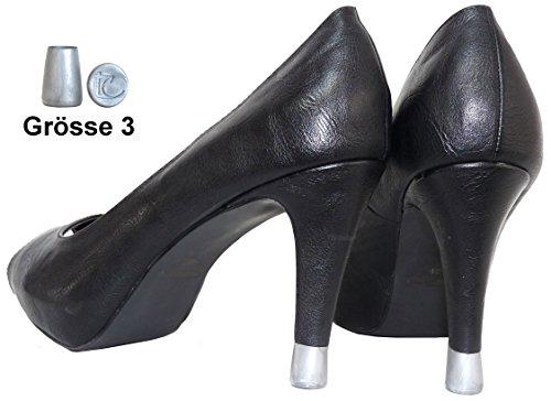 Stöckelstulpen neue Generation TC-2 Paar- Größen 3 und 4 - made in France - patentiertes Modell und eingetragenes Gebrauchsmuster - Originalkreation Silber