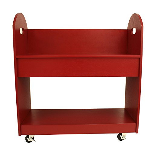 Décor Therapy Rolling Bookshelf, Red (Rolling Bookshelf)