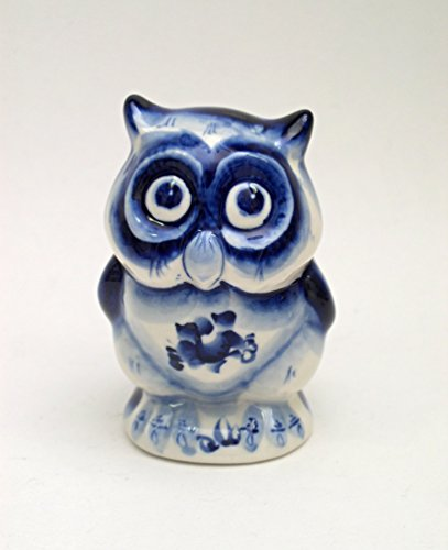 (RussianOrnaments Russian Porcelain Figurine OWL #063 )