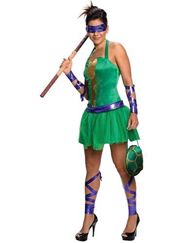 Secret Wishes Costume Teenage Mutant Ninja Turtles Donatello Adult Female, Green, -