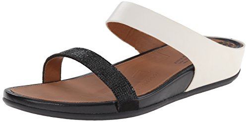Sandal Women's Black Micro Dress White Banda Slide Fitflop Crystal 01wgxqndA