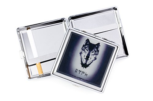 Gök-Türk Zigarettenetui Zigaretten Kasten - Wolf Bozkurt Ertugrul Alttürkisch Türkisch t5tiTD