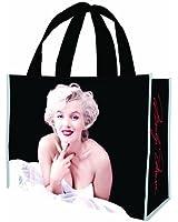 Vandor 70886 Marilyn Monroe Large Recycled Shopper Tote, Black